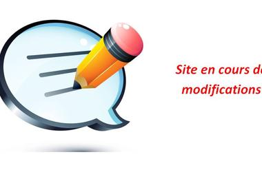 site en cours de modifications